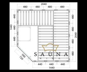 Finnsauna Wellfun Corner zum Selbstbau (Innensauna)