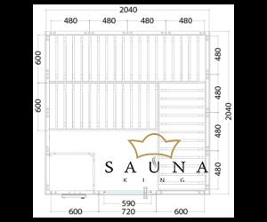 Finnsauna Wellfun Large zum Selbstbau