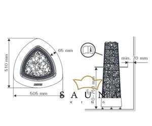 Sentiotec Beépítőkeret Harvia Kivi szaunakályhához