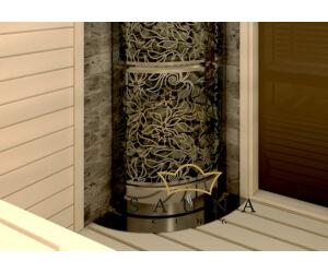 SENTIOTEC rozsdamentes acél szegély Tower Heater sarok szaunakályhához