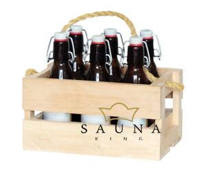 Holzkasten-Set für Saunazubehöre mit Trageseil