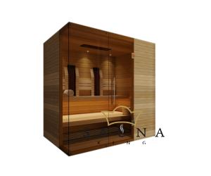 SAUNA KING Finn+Infra kombinierte Sauna Rhodos für 2-3 Personen