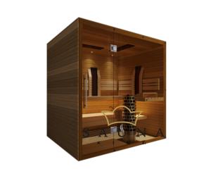 SAUNA KING Finn+Infra kombinierte Sauna Hawai für 3-4 Personen