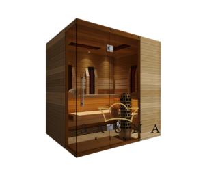 SAUNA KING Finn+Infra kombinierte Sauna Rhodos für 3-4 Personen