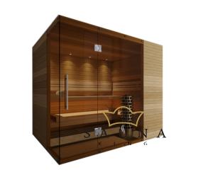 SAUNA KING Finn+Bio kombinierte Sauna Rhodos für 4-5 Personen