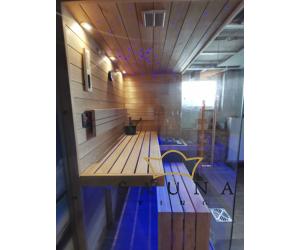 SAUNA KING Finn+Infra kombinierte Sauna Hawai für 1-2 Personen