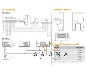 EOS Finnische Saunaofen Goliath, 18kW-36kW