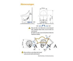 EOS Finnische Saunaofen Zeus L in Rostoptik (Alternativ: Anthrazit Perleffekt), 12kW-36Kw