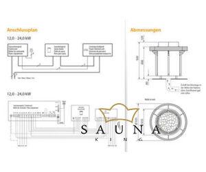 EOS Finnische Saunaofen Orbit, 12kW-24kW