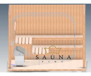 EOS Finnische Saunaofen Invisio Midi, Edelstahl (Unterbankofen), 6kw-12kw