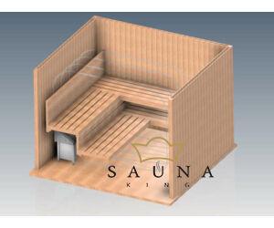 EOS Finn szaunakályha Invisio XL (pad alá építhető), 9kW-12kW (kő nélkül), nemesacél