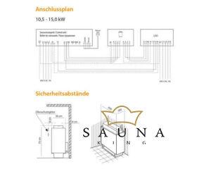 EOS Finnische Saunaofen P1, 10,5 kW-15kW