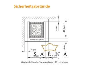 EOS Finnische Saunaofen Herkules S25, Schwarz 7,5 kW - 9 kW