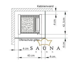 EOS Bio-Kombi Saunaofen Herkules S25 Vapor, Schwarz 7,5 kW - 9 kW