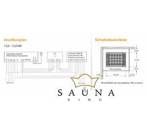 EOS Finnische Saunaofen Mythos S45 CRS, 12 kW - 15 kW