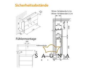 EOS Finnische Saunaofen 46 U (Hinterwandofen), 6kW-12kW