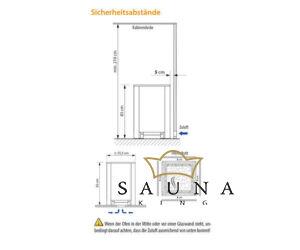EOS Finnische Saunaofen Blackrock,12kW-18kW, Schwarz/Edelstahl