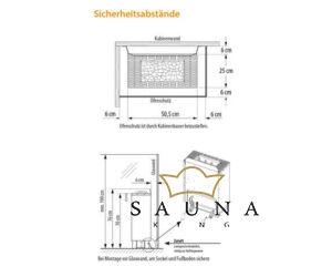 EOS Finnische Saunaofen Gracil, 6kW-9kW
