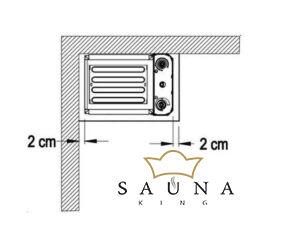 EOS Finnische Saunaofen M3, 3 kW, Anthrazit