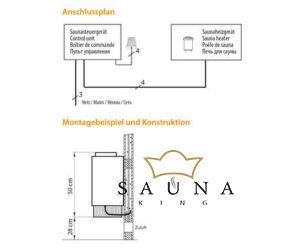 EOS Finnische Saunaofen  Mini, antrazit Perleffekt 3 Kw
