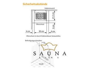 EOS Finnische Saunaofen Mini W, 3 kW, Edelstahl
