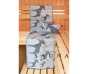 Finnisches Sauna Sitztuch mit Elchmotiv, 45x160cm