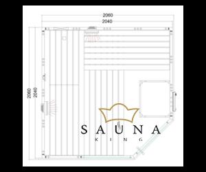 Kombinierte Sauna Alaska Corner Infra+ zum Selbstbau