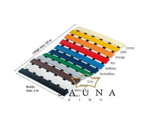 Higiéniai PVC lábrács 11 színben, egyedi szélességgel és hosszúsággal / négyzetméterre