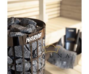 HARVIA Cilindro Saunaofen SCHWARZ & SCHMAL mit intergierter Steuerung 6,6 kw