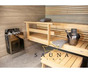 HARVIA Finnische Saunaofen The Wall, Schwarzt, 4,5 - 9,0 kW
