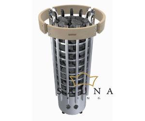 Fa kályhavédő keret, LED világítással, Glow 7-9,0 kW kályhákhoz