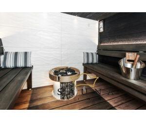 Rozsdamentes acél beépítő díszkeret, világítással, Cilindro 7 - 11,0 kW kályhákhoz