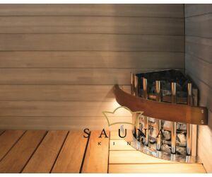 Fa kályhavédő keret világítással, Glow Corner szaunakályhákhoz