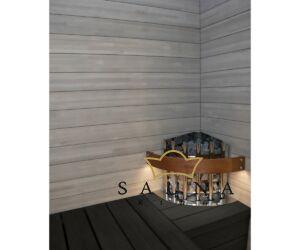 Fa kályhavédő keret, Glow Corner szaunakályhákhoz