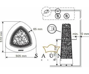 Einbauflansch für Kivi Ofen