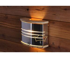 HARVIA fém lámpabúra lámpával, ezüst