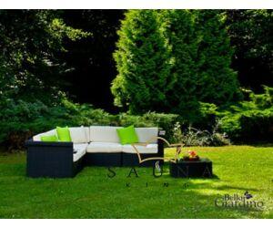Bello Giardino Loungegruppe aus Polyrattan in schwarz, SPLENDIDO