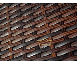 Bello Giardino műrattan ülőgarnitúra sötétbarna színben, CALMO