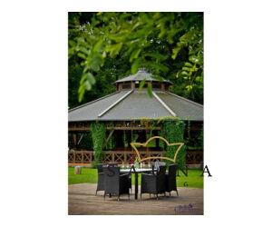 Bello Giardino kerti műrattan étkező szett fekete színben, CAPITALE