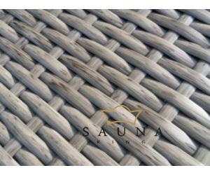 Bello Giardino Loungegruppe aus Polyrattan in matt grau, SANO