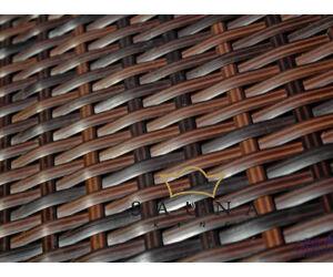 Kerti étkező szett GUSTOSO GRANDE, sötétbarna, 8 székkel