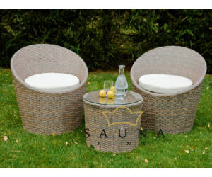 Bello Giardino Loungegruppe aus Polyrattan in braun melange, MODICO