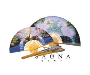 Finnsa Sauna-Fächer L, (zusammengeklappt 60cm, aufgeklappt 102cm), ASIA Motiv