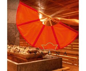 Finnsa Sauna-Fächer PLUS (zusammengeklappt 104cm, aufgeklappt 148cm), ROT/ORANGE