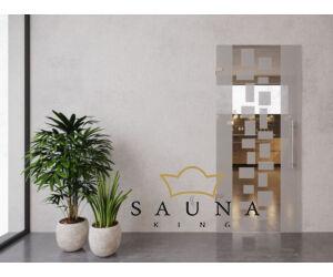 SAUNA KING Glastür II. 75 cm breit in 4 Glasfarben