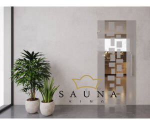 SAUNA KING üvegajtó V. 90 cm széles, 4 üvegszínben