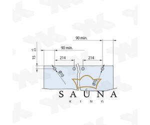 SAUNA KING üveg tolóajtó II. 120 cm széles, 4 üvegszínben