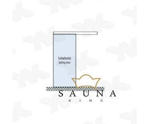SAUNA KING üveg tolóajtó I. 90 cm széles, 4 üvegszínben