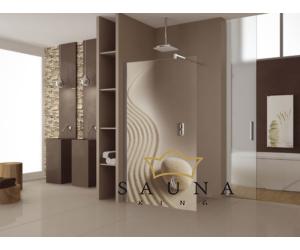 SAUNA KING Glas WALK-IN Dusche (B:120 cm H:200cm) in 4 Glasfarben