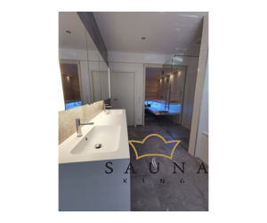 SAUNA KING Glas WALK-IN Dusche (B:140 cm H:200cm) in 4 Glasfarben